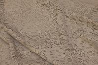 Sandfarvet blondestof