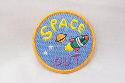 Strygemærke spaceout 7 cm
