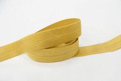 Elastikkantebånd messinggul 2 cm