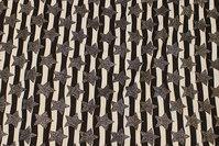 Tværstribet bomuldsjersey i sort og hvid med sølvstjerner