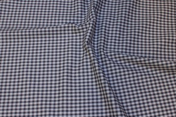 Vævet bomuld grå/grå 5mm tern