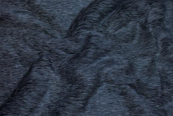 Flot imiteret pelsstof i koksgrå med smukke lange hår