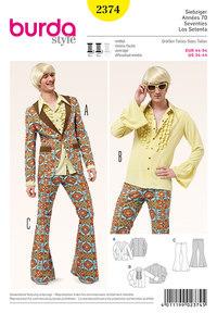 70s Party Suit til mænd. Burda 2374.
