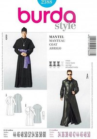 Lang frakke a la the Matrix. Burda 2388.
