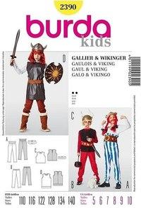Viking Asterix, top, bukser, bælte. Burda 2390.