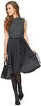 Kjole med taljesøm, klokkeformet nederdel