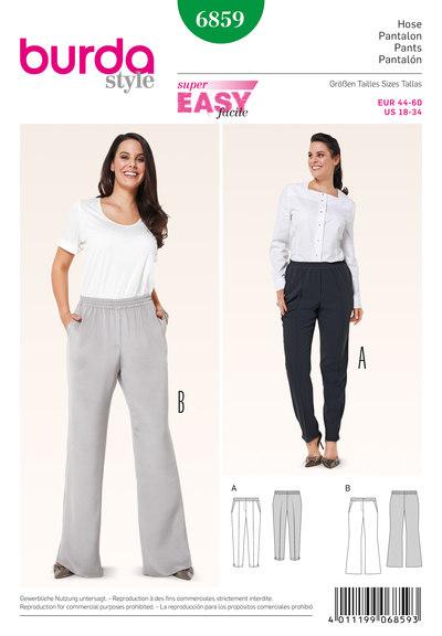 Bukser med elastik i talje og evt vidde