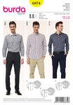 Burda 6874. Herrebluse/skjorte, krave variationer.
