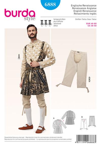 Middelalderlig skjorte og bukser