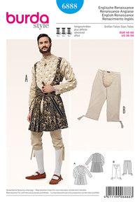 Middelalderlig skjorte og bukser. Burda 6888.