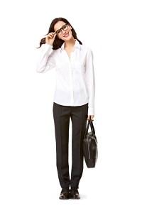 Bluse med læg, vintage skjortebluse. Burda 7136.