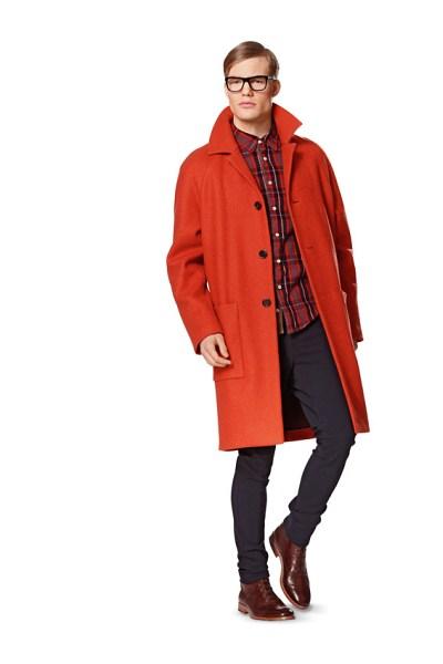 Frakke til mænd og bluse med ribkant