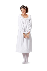 Historisk lingerie, skjortebluse, trekvart-bukser, corselette. Burda 7156.