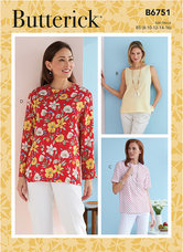 Petite Pullover Toppe. Butterick 6751.
