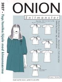 Top, tunika, kjole med kimonoærmer. Onion 2027.