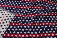 Amerikaner-gobelin dobbeltsidet i flotte blå-hvid-røde farver