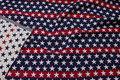 Amerikaner-gobelin dobbeltsidet i flotte blå-hvid-røde farver.