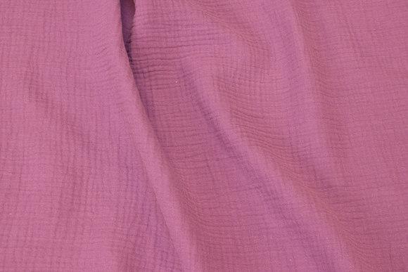 Blød dobbeltvævet bomuld (dobbelgaze) i lyngfarvet