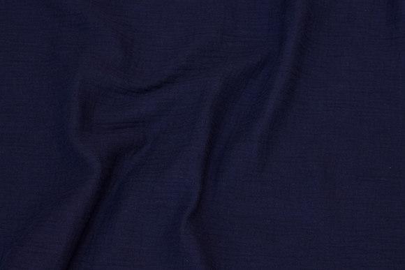 Blød dobbelvævet bomuld (dobbelgaze) i marineblå