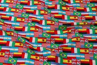 Bomuld med masser af flag