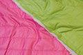 Imprægneret quilt - pink på den ene side/lime på den anden side.