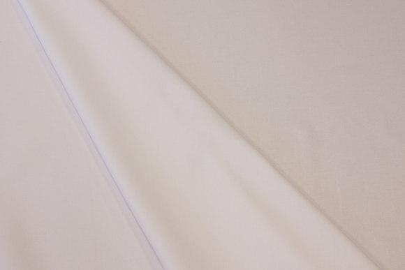 Hvid, groftvævet skjortebomuld