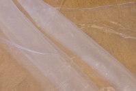 Hvid organza, transparent