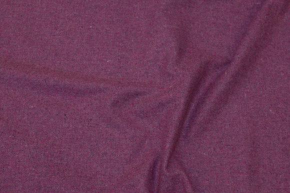 Lyngfarvet let uld og polyester