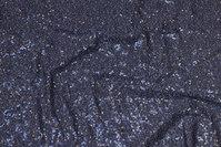 Mørkgrå jersey med påsyede grå mini-pailletter