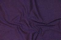 Mørklilla og flot bomuld med små 2 mm hvide prikker