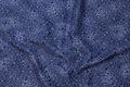 Småblomstret bomuld i blå farver.