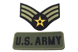 2 stk. strygemotiver, US army
