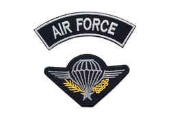 2 stk. strygemotiver, air force