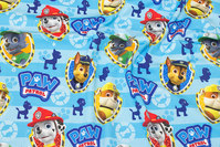 Turkis bomuldsjersey med Paw Patrol.