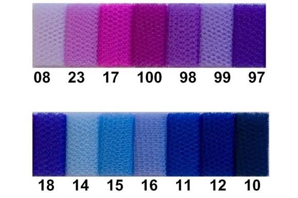Tyll til kjoler og skørter, blå-lilla farver