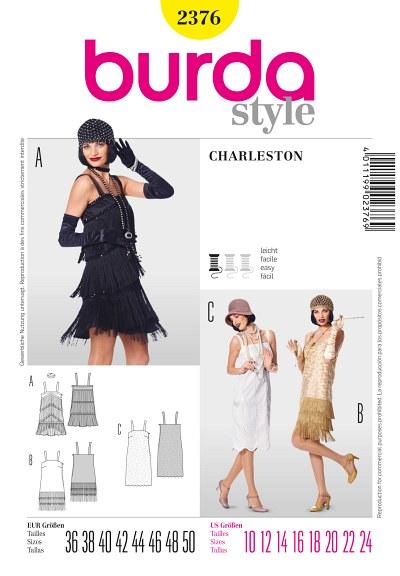 Charleston kjole med pynt