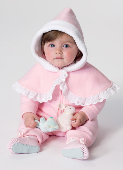 Baby og barns kappe, vest og bukser
