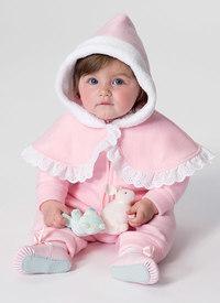 Baby og barns kappe, vest og bukser. Butterick 6372.