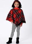 Pige kappe og poncho med hætte og krave