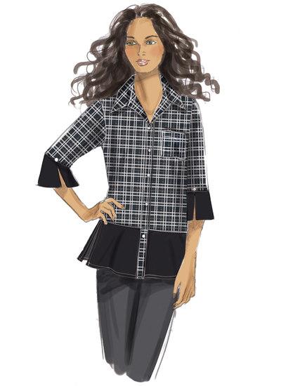 Knapbluser og -skjorter med side-slidser