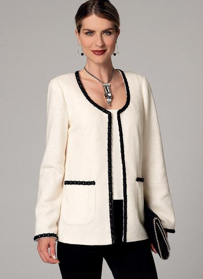 Åben-forside jakker med klap-lommer