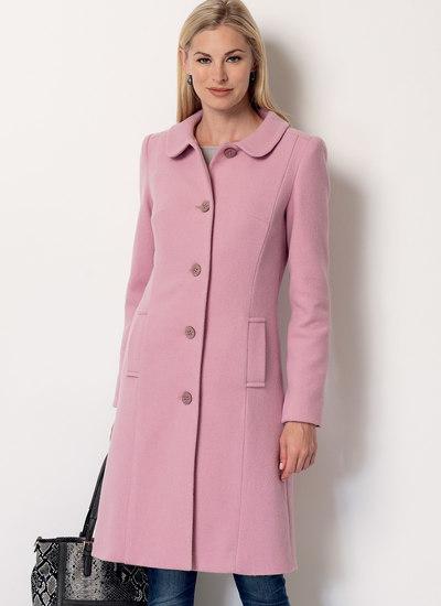 Klassisk frakke med krave