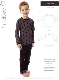 T-shirt med lange eller korte ærmer. Minikrea 50220.