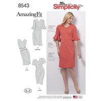 Kjole med super pasform. Simplicity 8543.