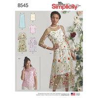 Kjole og top. Simplicity 8545.