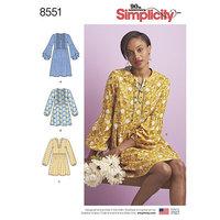 Kjole eller Tunika. Simplicity 8551.