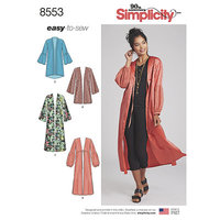 Kimonoer. Simplicity 8553.