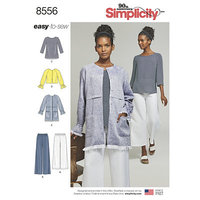 Bluser, toppe, bukser. Simplicity 8556.