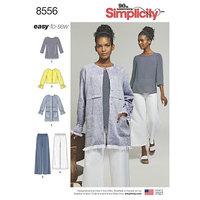 Bluser, toppe, bukser. Simplicity 8556.