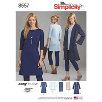 Joggingtøj, jerseybluser, lange bluser. Simplicity 8557.